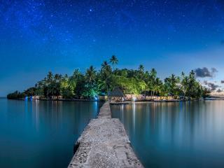 Toberua Island & Jetty on a Starry Night
