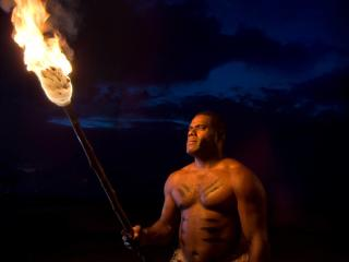 Fijian Warrior Torch Lighting