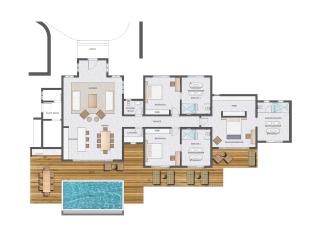 3 Bedroom Hilltop Residence (floor plan)