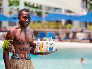 Poolside Sunscreen Warrior