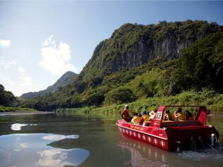 Sigatoka River Safari - Commentary stop