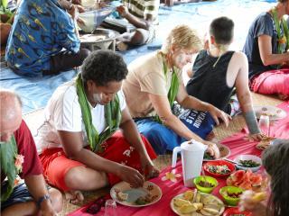 Sigatoka River Safari - Village cooked meal